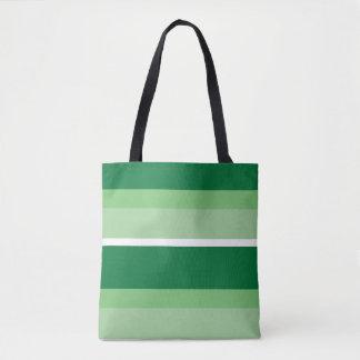 Bolsa Tote Tiras - verde