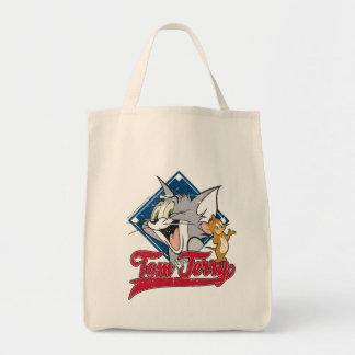 Bolsa Tote Tom e Jerry | Tom e Jerry no diamante de basebol