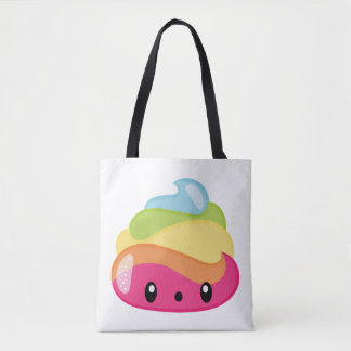 Bolsa Tote Tombadilho de Emoji Raimbow!