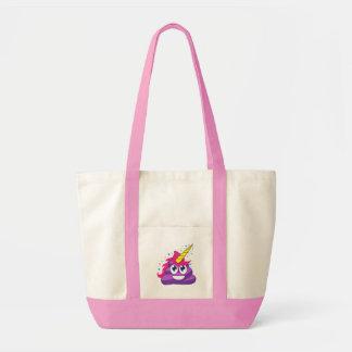 Bolsa Tote Tombadilho roxo do unicórnio de Emoji