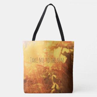 Bolsa Tote Tome-me ao sol, sacola bonita