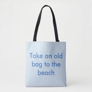 Bolsa Tote Tome um saco velho ao sorriso da praia