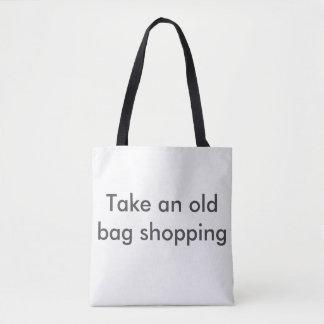 Bolsa Tote Tome uma compra do saco velho. Compra insolente
