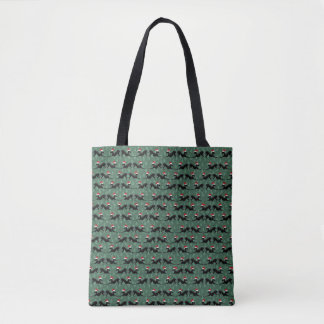 Bolsa Tote Tote. do saco do Natal do cão do galgo italiano