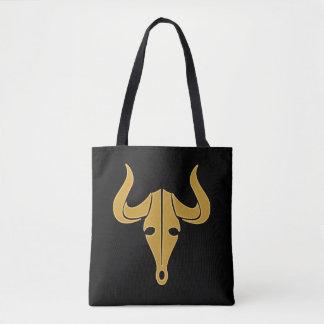 Bolsa Tote Touro do ouro com chifres longos