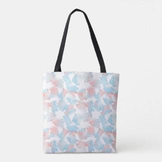 Bolsa Tote Traços cor-de-rosa de turquesa