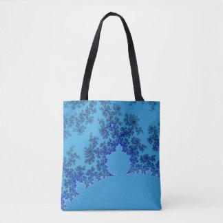 Bolsa Tote Tragetasche com pão de amêndoa em azul