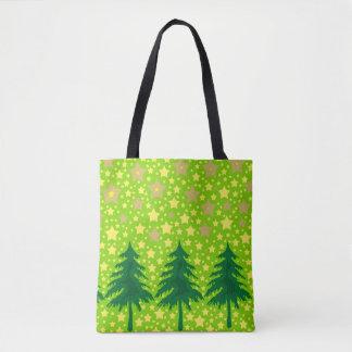 Bolsa Tote Tragetasche - Trees and estrela