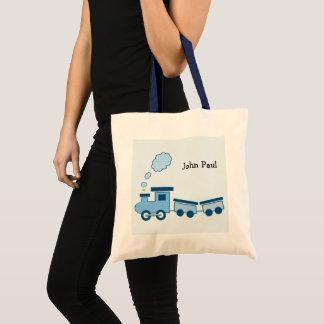 Bolsa Tote Trem azul de Choo Choo
