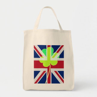 Bolsa Tote Trevo britânico irlandês St Patrick Reino Unido do