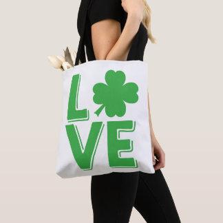 Bolsa Tote Trevo irlandês do dia de St Patrick do amor bonito