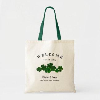 Bolsa Tote Trevos irlandeses do verde do saco da boa vinda do