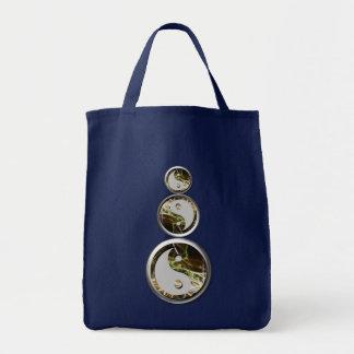 Bolsa Tote Tri-YinYangs saco