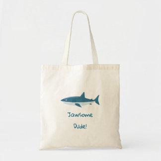 Bolsa Tote Tubarão do gajo de Jawsome
