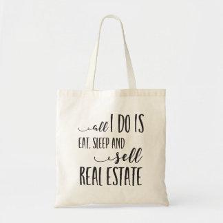 Bolsa Tote Tudo que eu faço é come, dorme e vende a sacola do