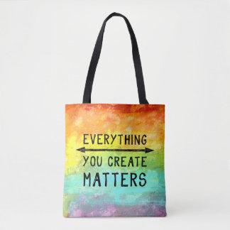 Bolsa Tote Tudo você cria matérias