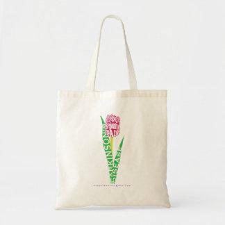 Bolsa Tote Tulipa Wordy do paládio