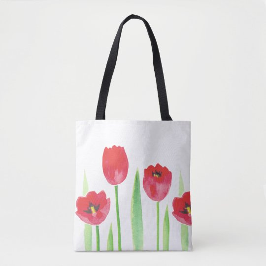 Bolsa Tote tulipas | Watercolor tulips bag
