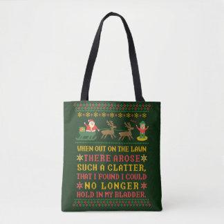 Bolsa Tote Twas engraçado a noite antes do Natal cómico