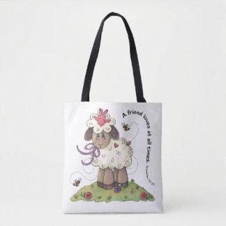 Bolsa Tote Um amigo ama a sacola