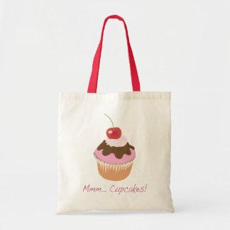 Bolsa Tote Um cupcake congelado delicioso com cereja e creme