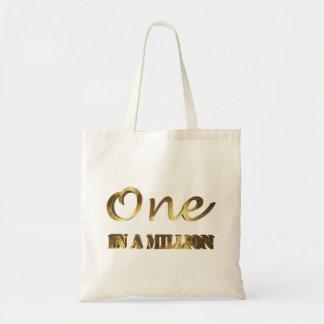 Bolsa Tote Um em milhão tipografias elegantes de Brown do