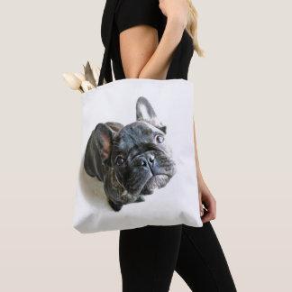 Bolsa Tote Um filhote de cachorro bonito do buldogue francês