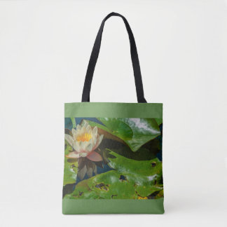 Bolsa Tote um florido waterlily na sacola