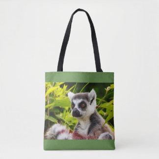 Bolsa Tote um lemur de madagascar na sacola