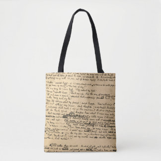 Bolsa Tote Um manuscrito do original da canção de natal do
