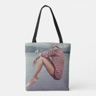Bolsa Tote Uma camisola morna no porto
