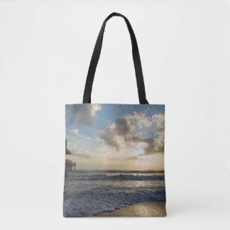 Bolsa Tote Uma manhã gloriosa da praia