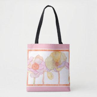 Bolsa Tote Uma sacola bonito do floral-estilo