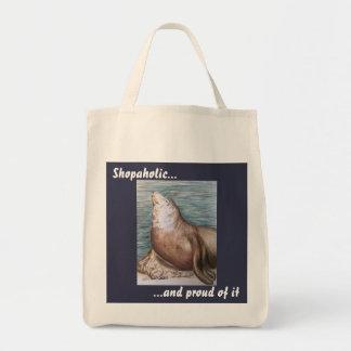 Bolsa Tote Uma sacola da compra dos shopaholic