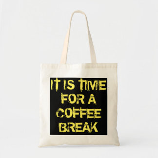 Bolsa Tote Uma sacola que o diga é tempo do café