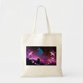 Bolsa Tote Unicórnio com estrelas