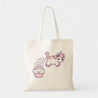 Bolsa Tote Unicórnio cor-de-rosa de Pooping