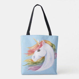 Bolsa Tote Unicórnio do arco-íris