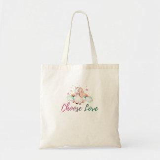 Bolsa Tote Unicórnio - escolha o design do arco-íris do amor