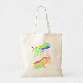 Bolsa Tote Unicórnios do arco-íris