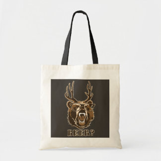 Bolsa Tote Urso, cervos ou cerveja