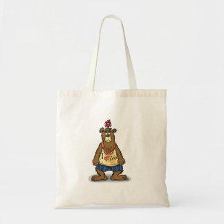 Bolsa Tote Urso de Brown dos desenhos animados que está em