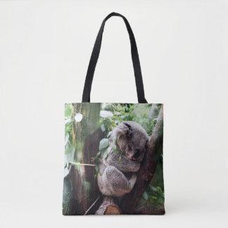 Bolsa Tote Urso de Koala bonito que relaxa em uma árvore