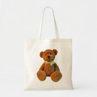 Bolsa Tote Urso de ursinho de vime de Brown