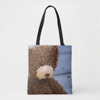Bolsa Tote Urso de ursinho encaracolado de Brown