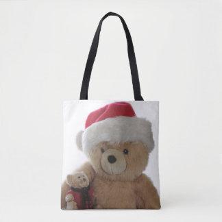 Bolsa Tote Urso do papai noel com pouco urso