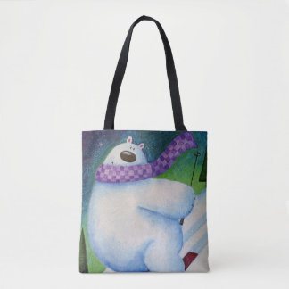 Bolsa Tote Urso polar de esqui