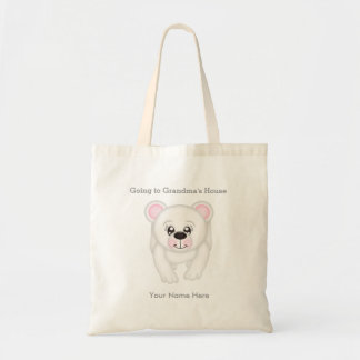 Bolsa Tote Urso polar personalizado que vai à sacola da avó