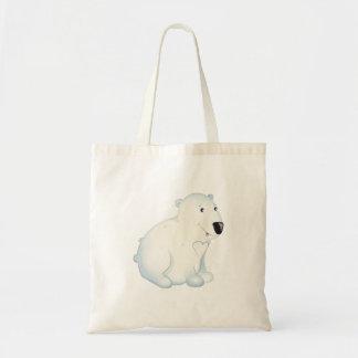 """Bolsa Tote """"Urso polar Totebag do selo pequeno do amor do"""