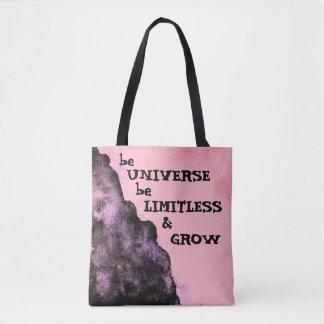 Bolsa Tote Vá ilimitado como a sacola do universo